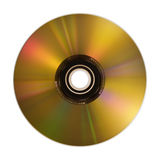 Golden compact disc isolated on white. Hi res royalty free illustration