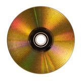 Golden compact disc isolated on white. With binary code stock illustration