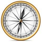 Golden compass royalty free illustration
