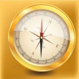Golden Compass Stock Image