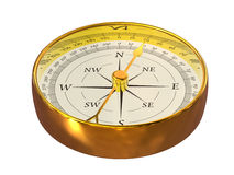 Golden compass Royalty Free Stock Image