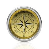 Golden compass detailed dial Royalty Free Stock Photos