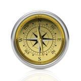 Golden compass detailed dial Royalty Free Stock Photos