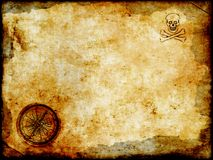 Golden compass with grunge vintage map royalty free stock photo