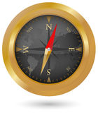 Golden Compass Icon Royalty Free Stock Image