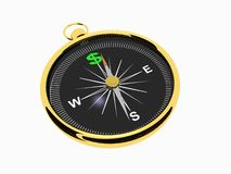Golden Compass of Money Royalty Free Stock Photos