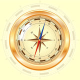 Golden compass rose. Vector  illustration Royalty Free Stock Photos