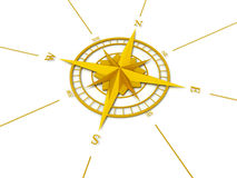 Golden compass rose Royalty Free Stock Photography
