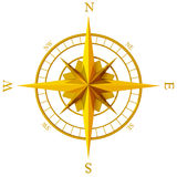 Golden compass rose Stock Images