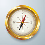 Golden compass . Royalty Free Stock Photos