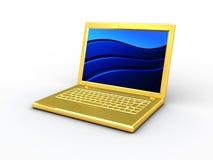 Golden computer Royalty Free Stock Photos
