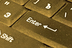 Golden computer keyboard Royalty Free Stock Photography