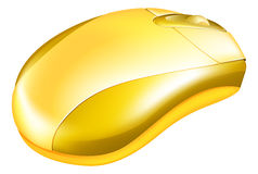Golden Computer Mouse Illustration Royalty Free Stock Photography
