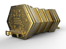 Golden concertina stock illustration