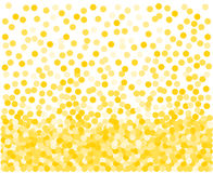 Golden confetti background. Royalty Free Stock Image