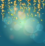 Golden confetti background Stock Photography