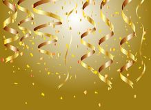 Golden confetti background Stock Image