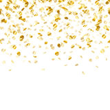 Golden confetti background. Seamless horizontal. Royalty Free Stock Images