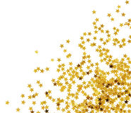 Golden confetti Stock Photo