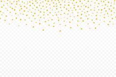 Golden confetti. Festive background with golden confetti. Falling confetti isolated on transparent background. Golden confetti. Festive background with golden Royalty Free Stock Photos