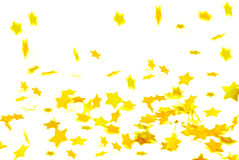 Golden confetti Royalty Free Stock Photo