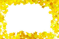 Golden confetti Royalty Free Stock Images
