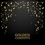 Golden Confetti. Gold glitter texture on a black background. Confetti Falling. Design element. Vector illustration Royalty Free Stock Images