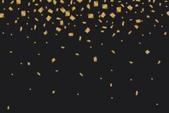 Golden confetti luxury festive on black background. Illustration of Golden confetti luxury festive on black background Stock Photography