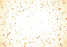 Golden confetti on white background Vector Royalty Free Stock Photo