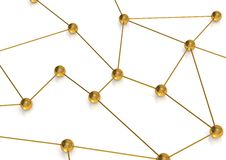 Golden connection Royalty Free Stock Photo