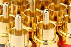 Golden connectors background Stock Photo