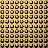 Golden convex pattern Stock Photo