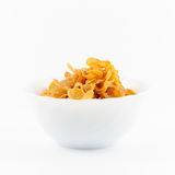 Golden corn flakes Royalty Free Stock Photography