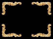Golden corner frame black background. Golden corner frame on black background royalty free stock image