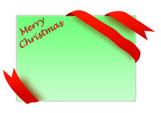 Golden corner ribbon with merry christmas sign Royalty Free Stock Photos