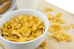 Golden Cornflakes (detailed close-up shot) Royalty Free Stock Photo