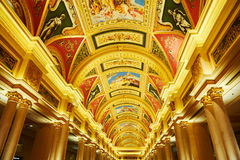 Golden corridor gallery Royalty Free Stock Image
