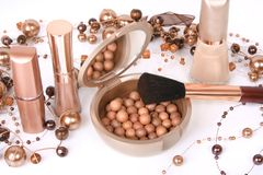 Golden cosmetics Stock Photos