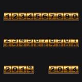 Golden counter stock illustration