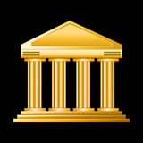 Golden court. Isolated on dark background Royalty Free Stock Photo