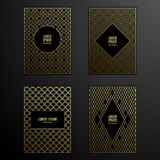 Golden covers template set Stock Photography