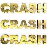 Golden crash Royalty Free Stock Images