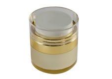 Golden cream box Royalty Free Stock Photos