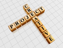 Golden creative project like crossword Royalty Free Stock Photography