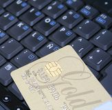 Golden credit Stock Photography