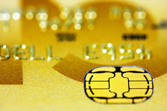 Golden Credit Card Stock Image