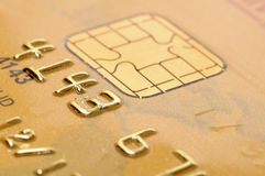 Golden credit card Stock Image