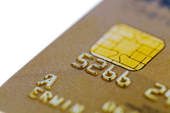 Golden credit card Stock Images