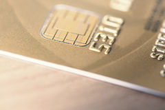 Golden Credit Cards Royalty Free Stock Photography