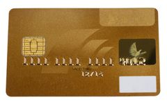 Golden creditcard. A golden Creditcard blanked for several usages Stock Photography